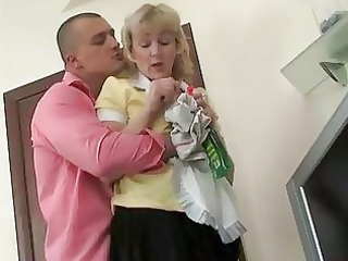 grown-up maid fucked into the bottom