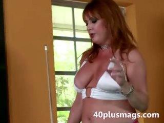 busty grown-up divorcee seduces stud