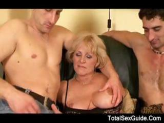 granny inside galoshes with giant breast acquires
