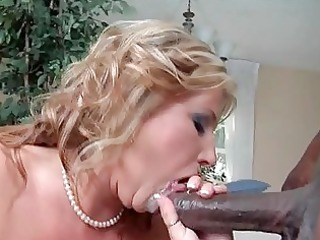 classy bleached girl into dark pantyhose banged