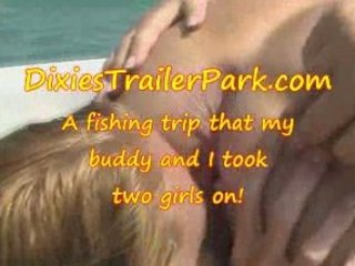 a swinger teen, a mature babe and a fishing trip
