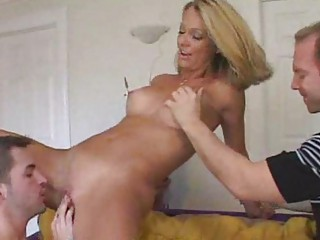 extremely impressive wife getting fed young penis