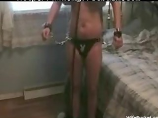 chick takes tied up and fucked hard bdsm bondage