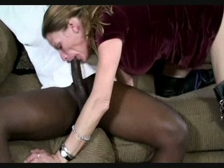 grown-up lady throats brown dick
