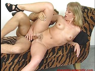 lady deepthroat &; drive dick till sperm to