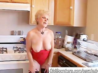 very sexy grandma has a soaking juicy cavity