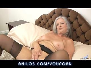 super plump elderly copulates her wet cavity