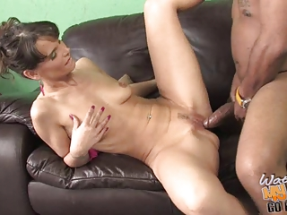 son watching slim lady with saggy tits acquires