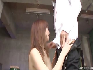 slutty and crazy riona suzune inside a warehouse