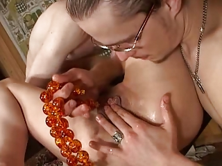 russian amp lady gets two into the arse part 1